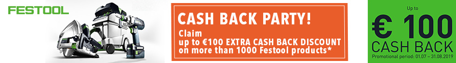 Festool Cash Back Party